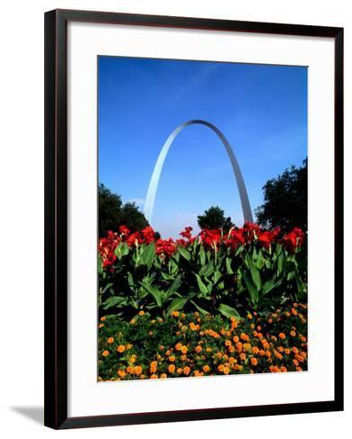 Famous St. Louis Arch, Archway Park, St. Louis, Missouri-Bill Bachmann-Framed Art Print