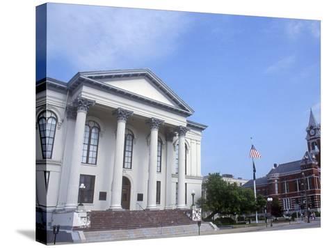 City Hall and Thalian Hall Performing Arts Center, Wilmington, North Carolina-Lynn Seldon-Stretched Canvas Print