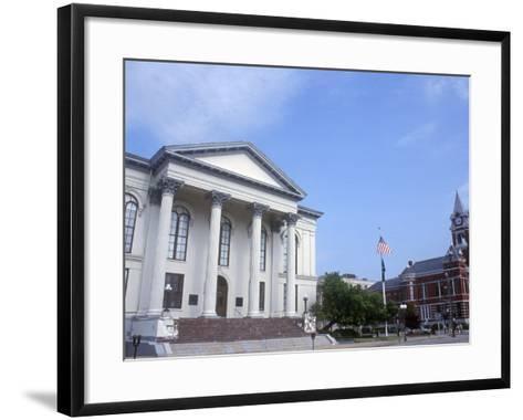City Hall and Thalian Hall Performing Arts Center, Wilmington, North Carolina-Lynn Seldon-Framed Art Print