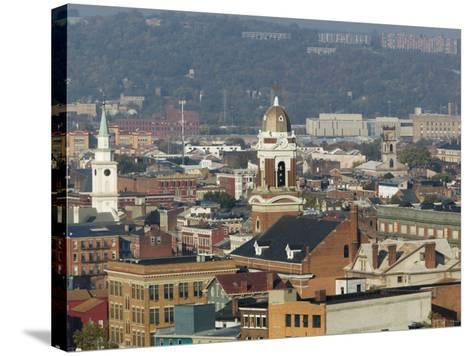 Over the Rhein Neighborhood from Mt. Adams, Cincinnati, Ohio-Walter Bibikow-Stretched Canvas Print