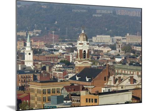 Over the Rhein Neighborhood from Mt. Adams, Cincinnati, Ohio-Walter Bibikow-Mounted Photographic Print