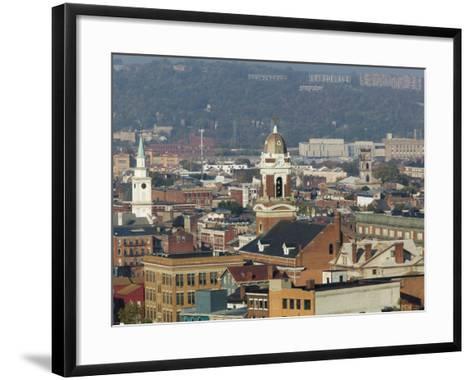 Over the Rhein Neighborhood from Mt. Adams, Cincinnati, Ohio-Walter Bibikow-Framed Art Print