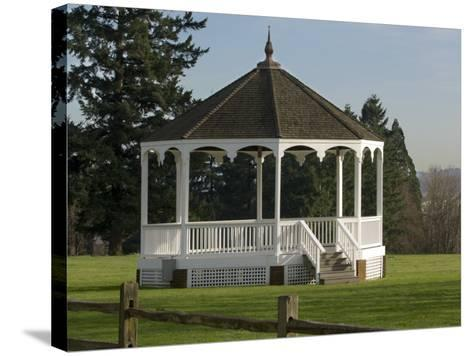 The Band Stand on Officers Row in Fort Vancouver, Vancouver, Washington-Janis Miglavs-Stretched Canvas Print