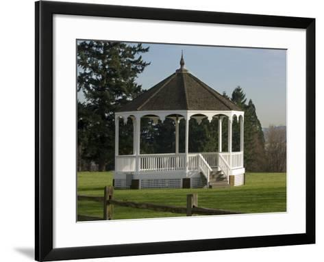 The Band Stand on Officers Row in Fort Vancouver, Vancouver, Washington-Janis Miglavs-Framed Art Print
