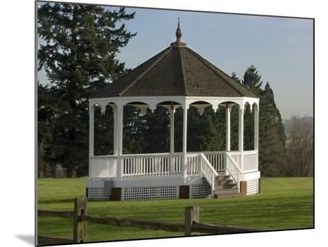 The Band Stand on Officers Row in Fort Vancouver, Vancouver, Washington-Janis Miglavs-Mounted Photographic Print