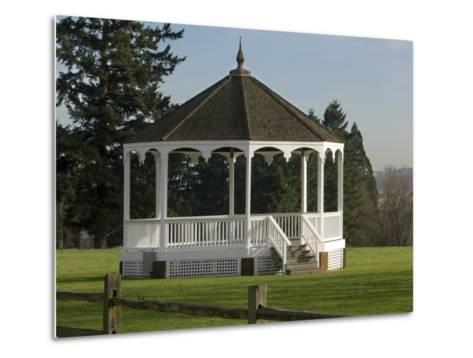 The Band Stand on Officers Row in Fort Vancouver, Vancouver, Washington-Janis Miglavs-Metal Print