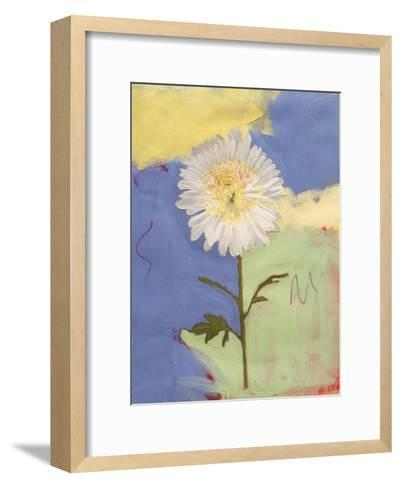 White Mum-Peggy Brown-Framed Art Print