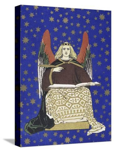 Angel Holding Book--Stretched Canvas Print