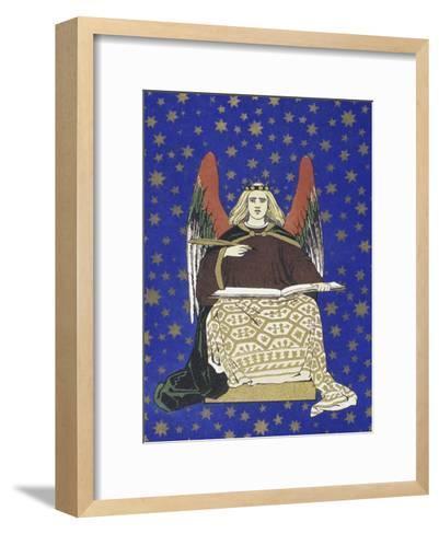 Angel Holding Book--Framed Art Print