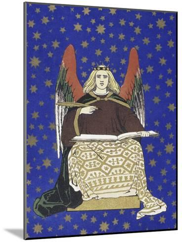 Angel Holding Book--Mounted Giclee Print
