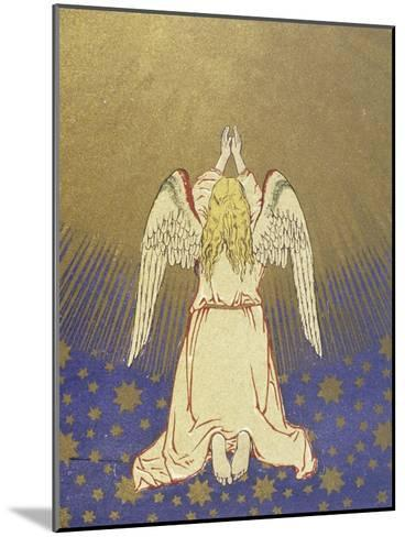 Angel with Arms Raised to Heaven--Mounted Giclee Print