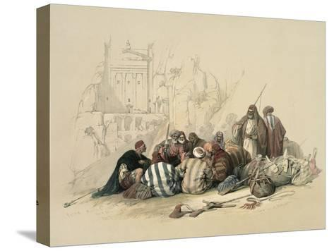 Conference of Arabs-David Roberts-Stretched Canvas Print