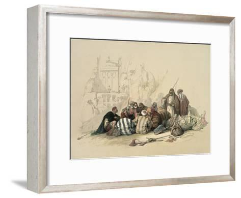 Conference of Arabs-David Roberts-Framed Art Print