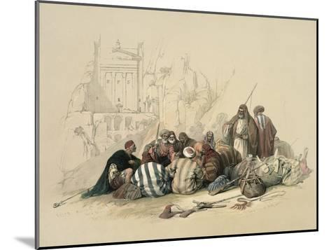 Conference of Arabs-David Roberts-Mounted Giclee Print