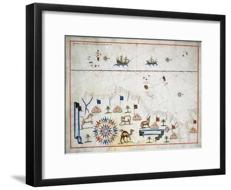 Map of Western Africa--Framed Art Print
