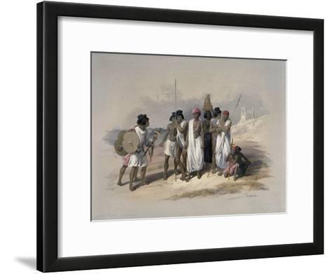 Group of Nubians at Wady Kardassy-David Roberts-Framed Art Print