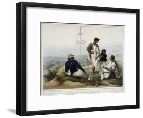 Indians of the Guauchinango Mountains-Carl Nebel-Framed Art Print