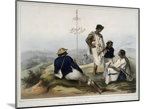 Indians of the Guauchinango Mountains-Carl Nebel-Mounted Giclee Print