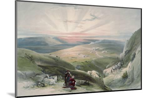View of Sunset, Cana-David Roberts-Mounted Giclee Print