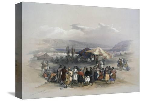 Encampment of Pilgrims at Jericho-David Roberts-Stretched Canvas Print