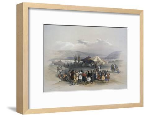 Encampment of Pilgrims at Jericho-David Roberts-Framed Art Print