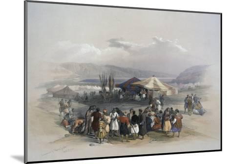 Encampment of Pilgrims at Jericho-David Roberts-Mounted Giclee Print
