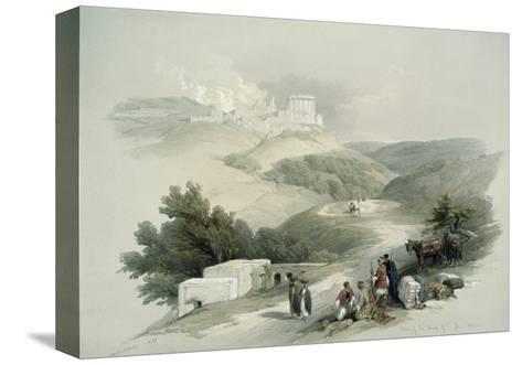 Ruins of the Church of St. John, Sabaste-David Roberts-Stretched Canvas Print