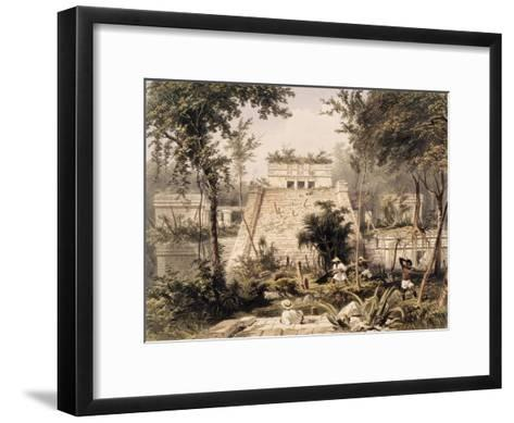 Castle at Tulumc-Frederick Catherwood-Framed Art Print