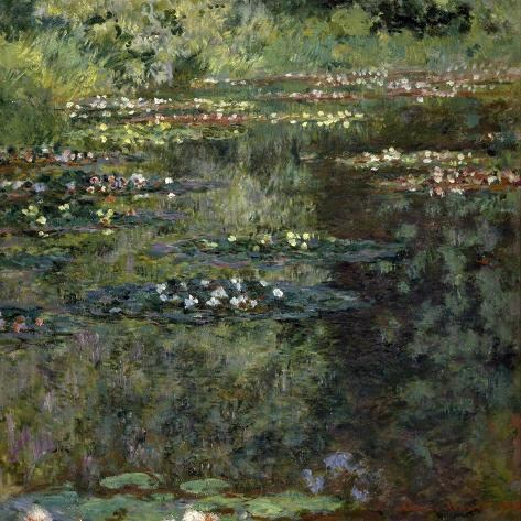 Etang Aux Nympheas, Pond with Water Lillies-Claude Monet-Stretched Canvas Print