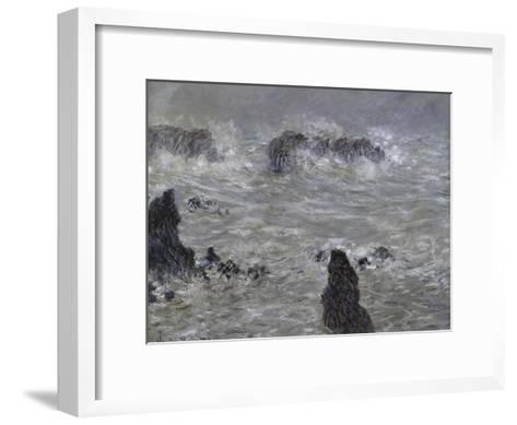 Tempete, Cotes de Belle, Ilestorm-Claude Monet-Framed Art Print