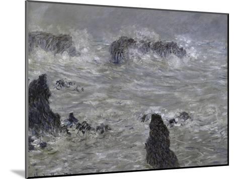 Tempete, Cotes de Belle, Ilestorm-Claude Monet-Mounted Giclee Print