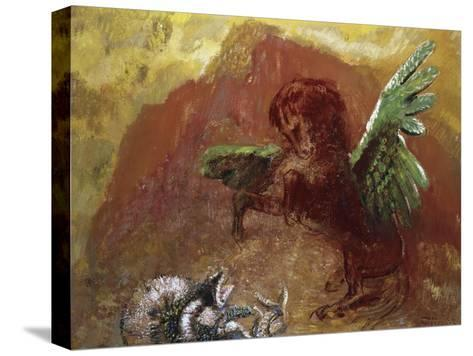 Pegasus and Hydra-Odilon Redon-Stretched Canvas Print