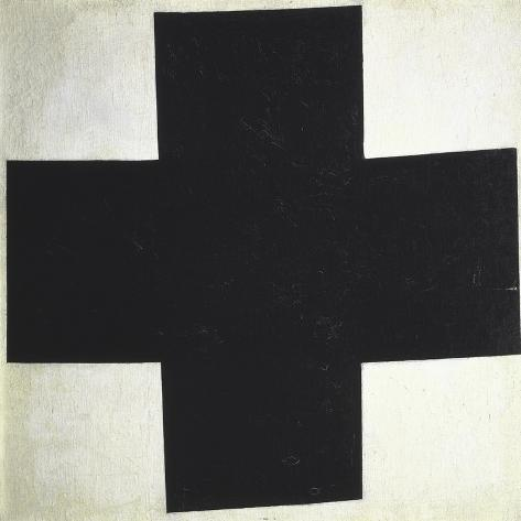 Black Cross-Kasimir Malevich-Stretched Canvas Print