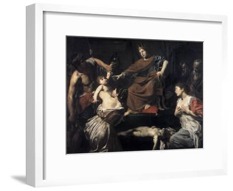 Judgement of Solomon-Valentin de Boulogne-Framed Art Print