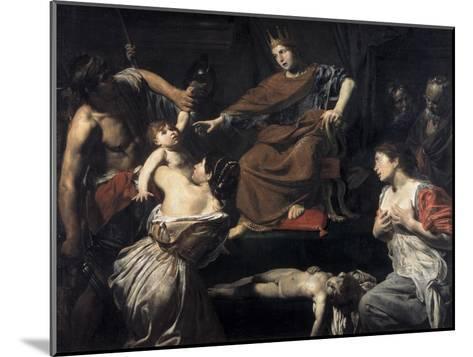 Judgement of Solomon-Valentin de Boulogne-Mounted Giclee Print