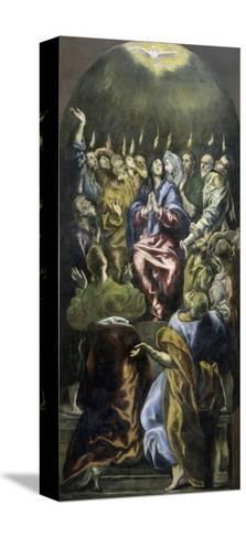 Pentecost, c.1600-El Greco-Stretched Canvas Print