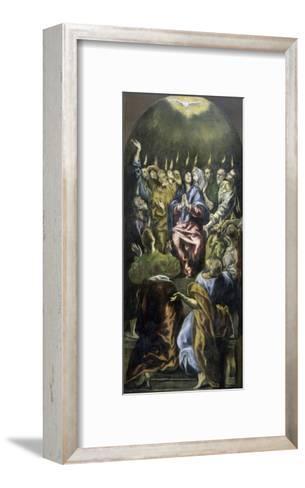 Pentecost, c.1600-El Greco-Framed Art Print