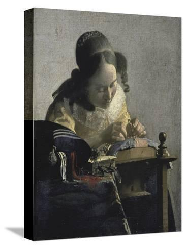The Lacemaker, 17th century-Johannes Vermeer-Stretched Canvas Print