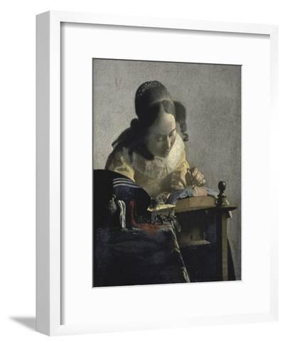 The Lacemaker, 17th century-Johannes Vermeer-Framed Art Print