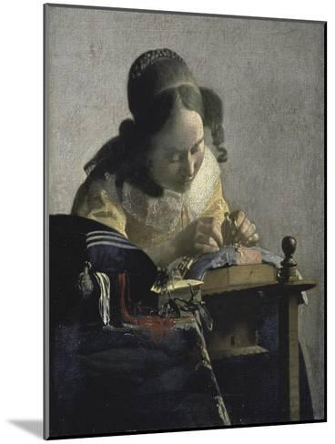 The Lacemaker, 17th century-Johannes Vermeer-Mounted Giclee Print