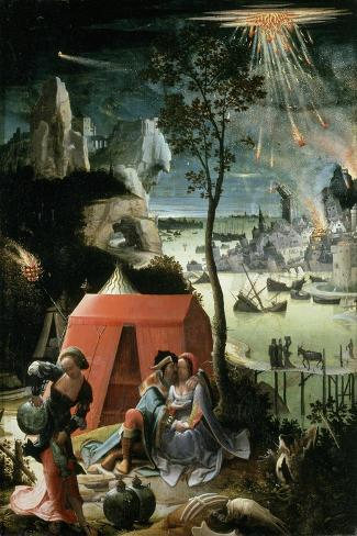 Lot and His Daughters, 17th century-Lucas Van Leyden-Stretched Canvas Print