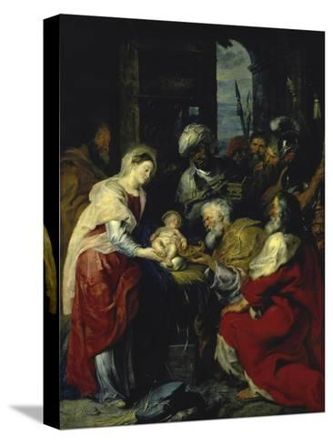 Adoration of the Kings, 17th century-Peter Paul Rubens-Stretched Canvas Print