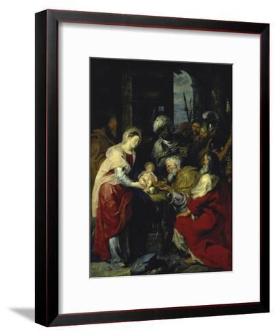 Adoration of the Kings, 17th century-Peter Paul Rubens-Framed Art Print