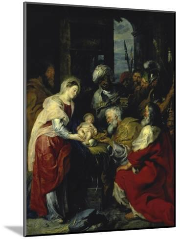 Adoration of the Kings, 17th century-Peter Paul Rubens-Mounted Giclee Print