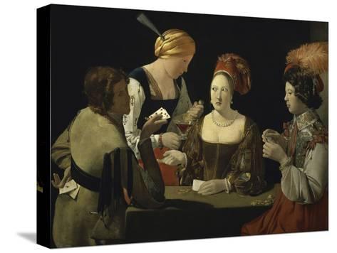 Cheat with c.1635-Georges de La Tour-Stretched Canvas Print