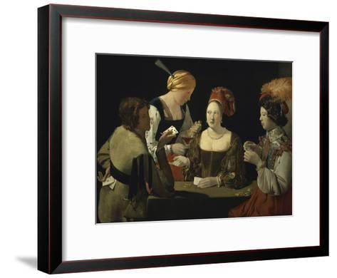 Cheat with c.1635-Georges de La Tour-Framed Art Print
