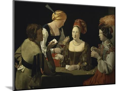 Cheat with c.1635-Georges de La Tour-Mounted Giclee Print