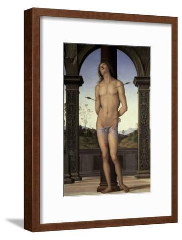 St. Sebastian, 15th century-Pietro Perugino-Framed Art Print