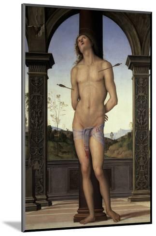 St. Sebastian, 15th century-Pietro Perugino-Mounted Giclee Print