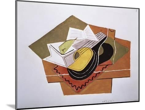 Still Life with a Guitar, c.1920-Juan Gris-Mounted Giclee Print